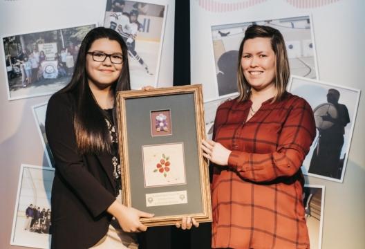 (Kayleigh Hunter,left,andASCNWT Board Member Charlene Blake, right)